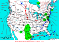 2007-01-20 Surface Weather Map NOAA.png