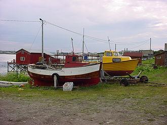 Vadsø - Fishing boats on land in Vadsø