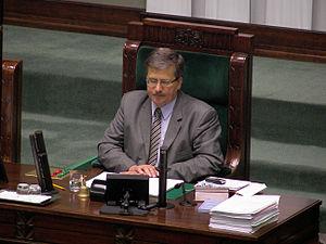 Bronisław Komorowski - Bronisław Komorowski as Deputy Marshal in Sejm, September 2007