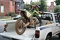 2008-07-11 Dirt bike on a truck bed in Chapel Hill.jpg