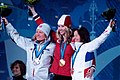 2010 Winter Olympic Women's Freestyle Skiing Ski Cross medalists.jpg