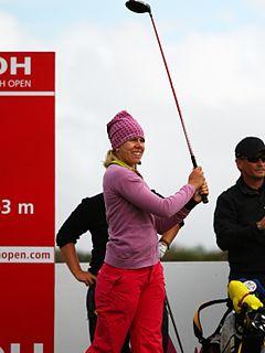 Pernilla Lindberg Swedish female golfer