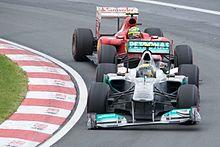 Rosberg e Felipe Massa nel Gran Premio del Canada 2011