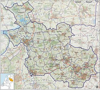 Overijssel - Topographic map of Overijssel, 2012