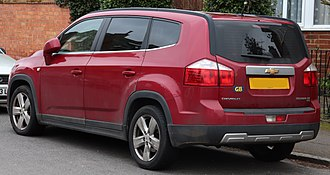 Chevrolet Orlando - Chevrolet Orlando (United Kingdom
