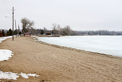 Starbuck City Beach, on the western shore of Lake Minnewaska