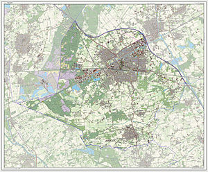 Dutch Topographic map of Weert, July 2013