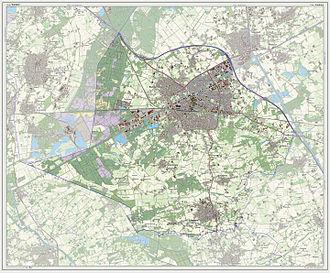 Weert - Dutch Topographic map of Weert, July 2013