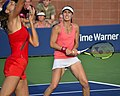 2013 US Open (Tennis) - Daniela Hantuchova and Martina Hingis (9657438634).jpg