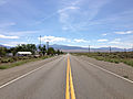 2014-07-30 11 27 15 View south along Nevada State Route 376 (Tonopah-Austin Road) about 53.4 miles north of U.S. Route 6 in Carvers, Nevada.JPG