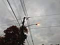 2014-10-31 17 44 11 Recently activated sodium vapor street light along Terrace Boulevard in Ewing, New Jersey.JPG