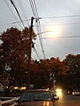 2014-10-31 18 12 41 Recently activated sodium vapor street light along Terrace Boulevard in Ewing, New Jersey.JPG