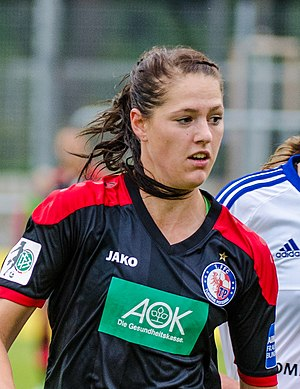 Inka Wesely - Wesely playing for Turbine Potsdam in September 2015