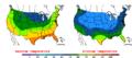 2015-10-30 Color Max-min Temperature Map NOAA.png