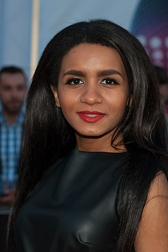 Aminata Savadogo - Savadogo at the opening ceremony of the 2015 Eurovision Song Contest in Vienna, Austria