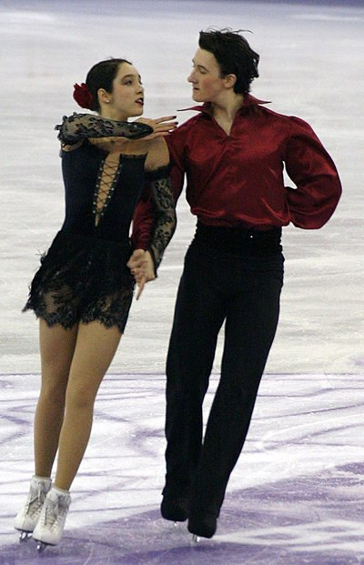 Lorraine McNamara and Quinn Carpenter held the second highest score for the free dance.