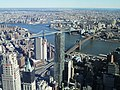 2016 One World Observatory view southsoutheast towards Brooklyn and Manhattan Bridges.jpg