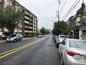 Cliffside Park, New Jersey - County Route 29 (Anderson Avenue) in Cliffside Park