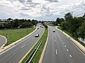 2020-08-03 15 39 36 View west along Maryland State Route 150 (Eastern Avenue-Boulevard) from the overpass for for Maryland State Route 151 (North Point Boulevard) in Dundalk, Baltimore County, Maryland.jpg