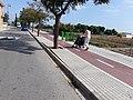 2020-09-11 Passejant amb un cotxet de nadó doble per l'Anell Verd Metropolità a Meliana 01.jpg
