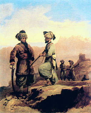 20th Duke of Cambridge's Own Infantry (Brownlow's Punjabis) - Image: 20th (Punjab) Regiment of Bengal Native Infantry. Painting by Walter Fane (1828 85), 1868