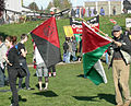 27 Oct 2007 Seattle Demo - IWW and Palestinian flags.jpg