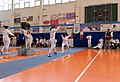 2nd Leonidas Pirgos Fencing Tournament. Forward lunge for the fencer on the right.jpg