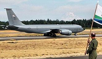319th Operations Group - Boeing KC-135R Stratotanker 63-8037 from the 319th Operations Group takes off from McChord AFB, Washington