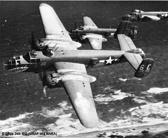 340th Flying Training Group - B-25J of the 340th Bomb Group-43-28080/486th Bomb Squadron