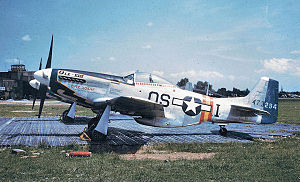 "357th Fighter Squadron - 357th Fighter Squadron P-51D Mustang 44-73294 ""Ole VIII"" with occupation markings, summer 1945"