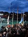 4-daagse Nijmegen 2011 Vlaggenparade 27 vierdaagsevlaggen hijsen.JPG
