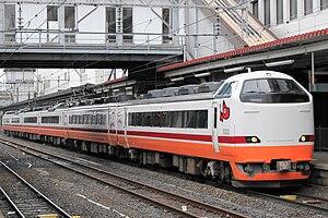Aizu Liner - Refurbished 485 series set G55/58 on an Aizu Liner service, March 2012