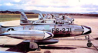Bangor Air National Guard Base - 506th Strategic Fighter Wing F-84G Thunderjets 1954