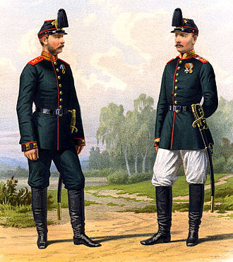5th Infantry Division (Russian Empire) - Artillery officers of the 5th Infantry Division, 1878