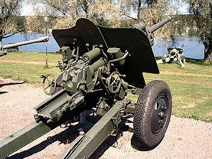 76 mm divisional gun M1939 (USV) - USV in Hämeenlinna Artillery museum, Finland.