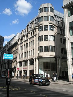 Gracechurch Street main road in the City of London