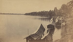 Perak River - View of Perak River at Bota (Bhota) in 1874.