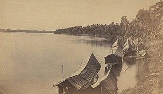 Bota - View of Perak River at Bota (Bhota) in 1874