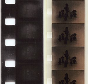 8 mm film - Standard and Super 8 mm film comparison.