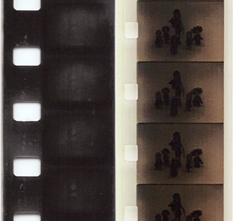 Film perforations - Perforations on Standard (left) and Super (right) 8 mm film