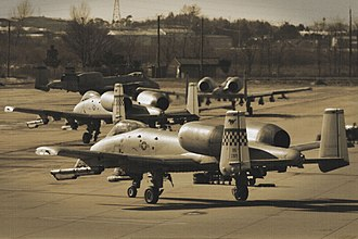 51st Operations Group - A-10 Thunderbolt IIs taxi for a training mission at Osan AB