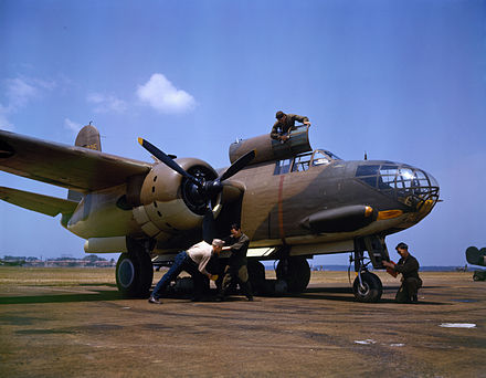 A-20C being serviced at Langley Field, Virginia, 1942. - Douglas A-20 Havoc
