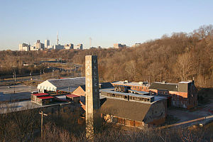 Architecture of Toronto - Due to the abundance of clay in the area, brick was a commonly used material for construction. Opened in 1889, the Don Valley Brick Works was one of several local brickworks.