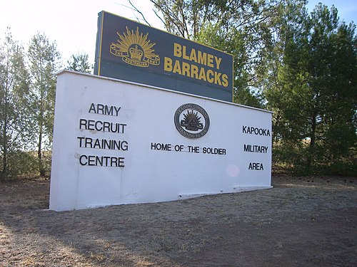 The Army Recruit Training Centre in Wagga Wagga is the commencement training centre for almost all army personnel in Australia. ARTCKapooka.jpg