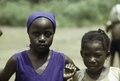 ASC Leiden - F. van der Kraaij Collection - 01 - 004 - Saye Town. Two elementary school girl pupils - Monrovia, Sinkor, Montserrado County, Liberia, 1976.tiff