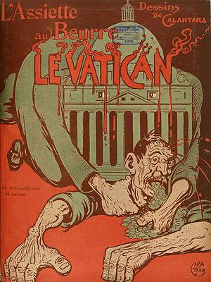 L'Assiette au Beurre - Issue no. 242, featuring Gabriele Galantara (18 November 1905).