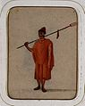 A Buddhist monk (?) carrying a trident over his shoulders Wellcome V0046133EL.jpg
