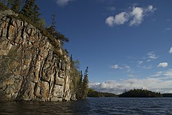 A Pre-Cambrian Shield cliff on Thompson Lake.jpg