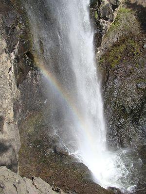 Treasure Falls, Colorado - Image: A Rainbow formed in the plunge mist of Treasure Falls, Colorado, USA
