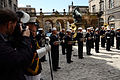 A Scottish news photographer, left, takes a photograph of the U.S. Naval Forces Europe Band at the conclusion of a concert for David Wilson, the Lord Lieutenant and Lord Provost of the city of Edinburgh 120730-N-VT117-867.jpg